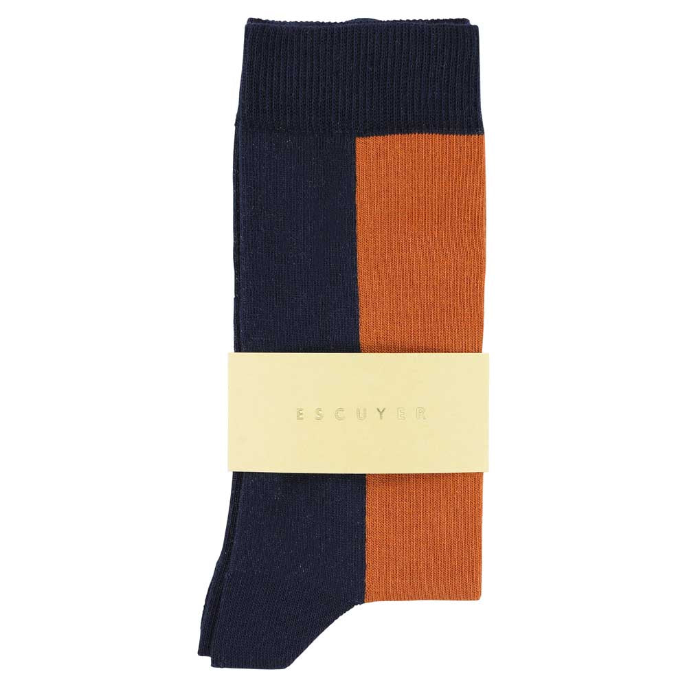 Women Chess Socks - Dress Blue / Café