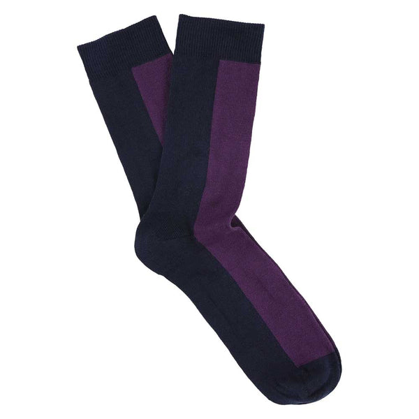 Women Chess Socks - Dress Blue / Purple