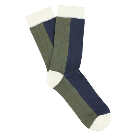Women Chess Socks - Off White / Mood Indigo