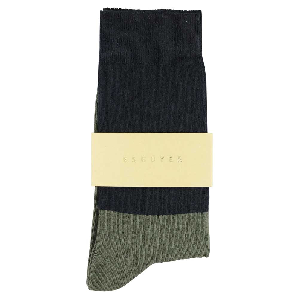 Women Block Socks - Mood Indigo  / Thym