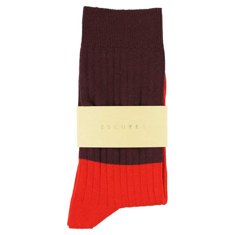 Women Block Socks - Zifandel / Molten Lava