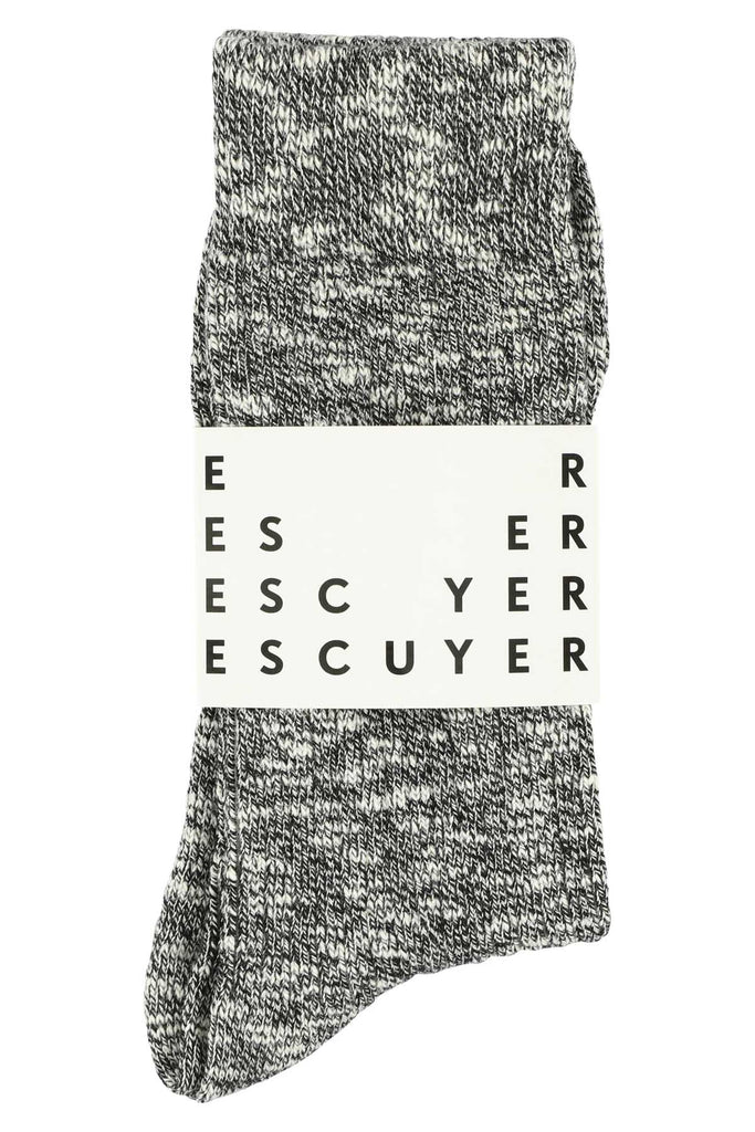 Melange socks - Black - Escuyer