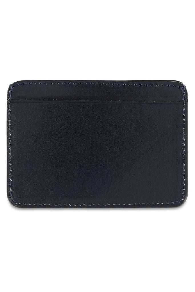 Leather Cardholder - Blue - Escuyer