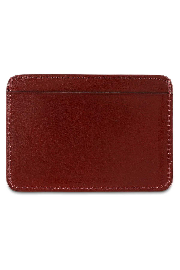 Leather Cardholder - Burgundy - Escuyer