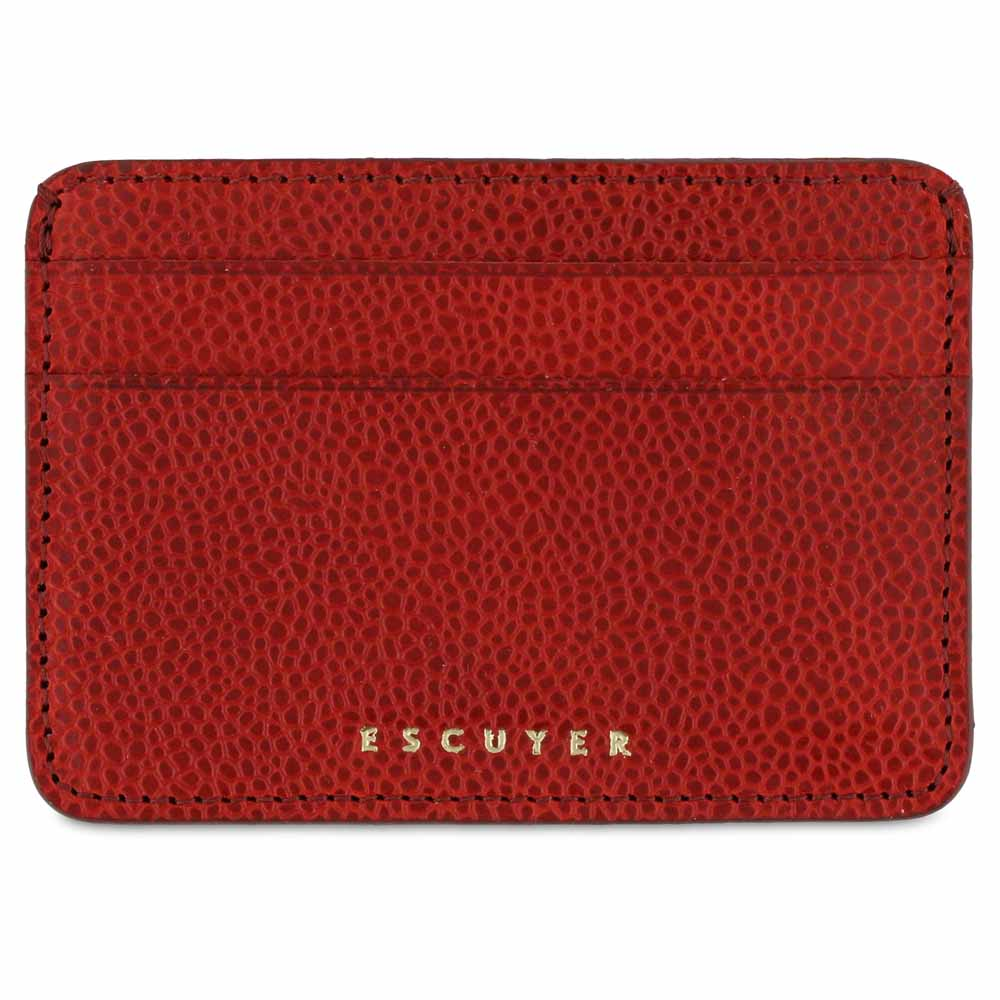 Cardholder - Grained Red - Escuyer