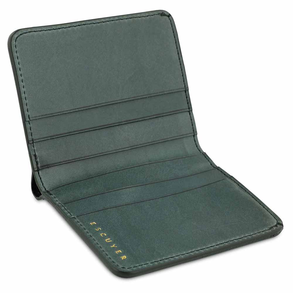 Slim Wallet - Green - Escuyer