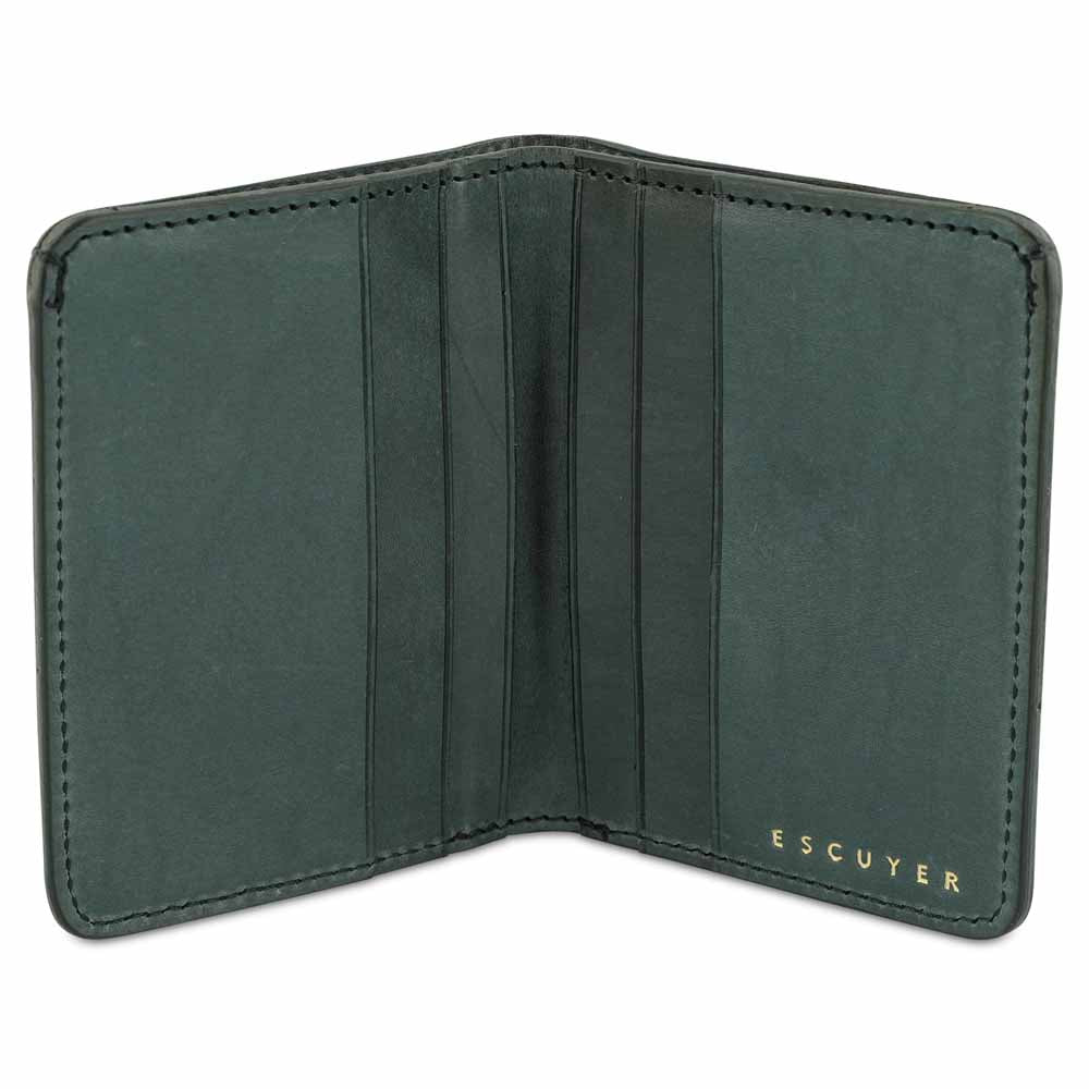 Slim Wallet - Grained Green - Escuyer