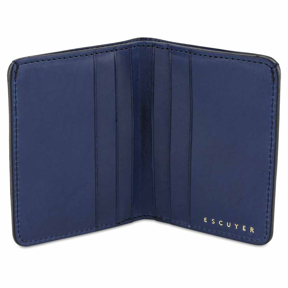 Slim Wallet - Grained Navy - Escuyer