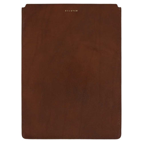MacBook Sleeve // Light Brown  / Orange