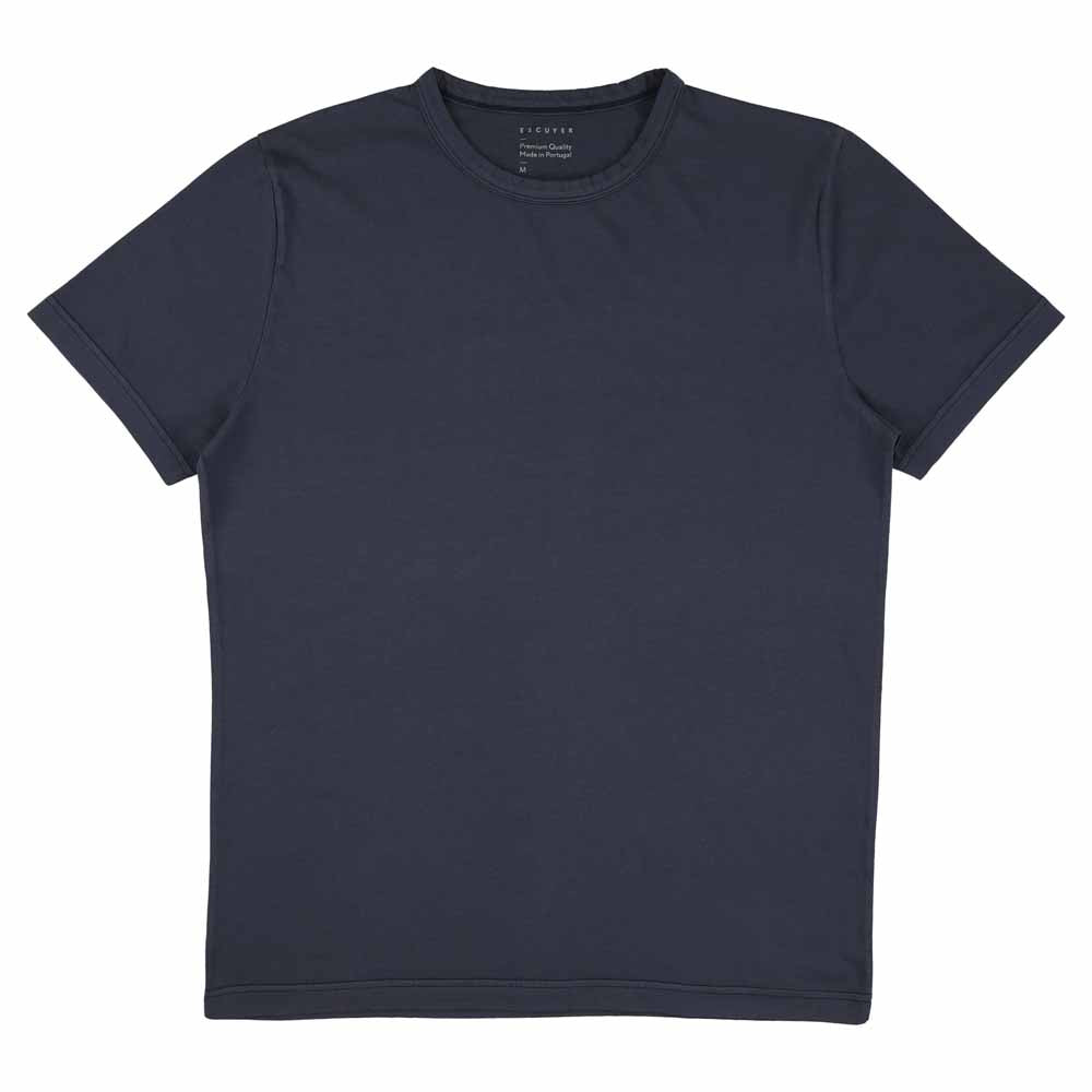 Crew Neck T-Shirt - Indigo
