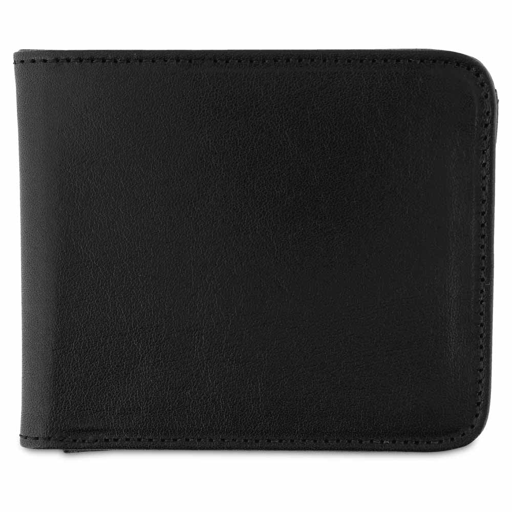 Leather Billfold Wallet - Black - Escuyer