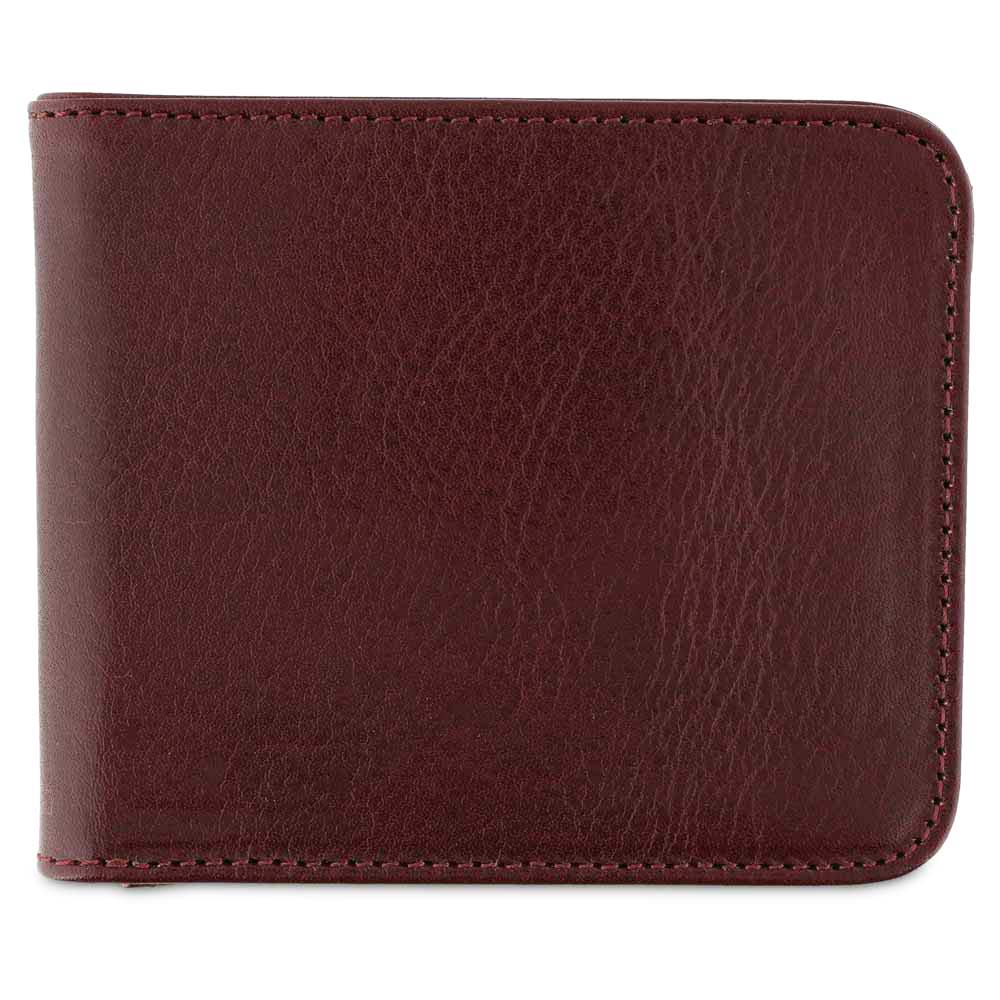 Leather Billfold Wallet - Burgundy - Escuyer