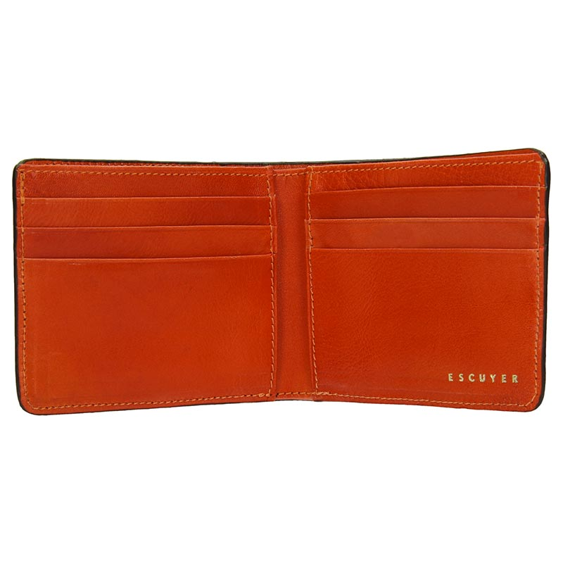 Leather Billfold Wallet - Cognac / Orange - Escuyer