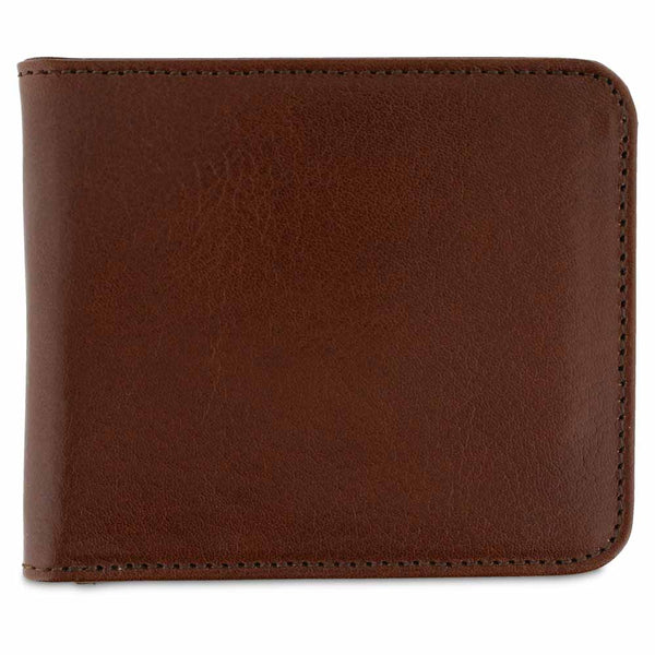 Leather Billfold Wallet - Light Brown - Escuyer
