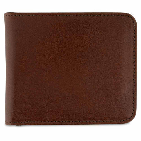 Leather Billfold Wallet - Light Brown