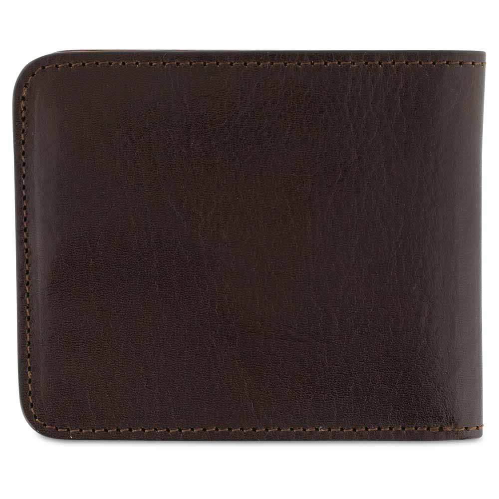Leather Billfold Wallet - Dark Brown / Natural - Escuyer