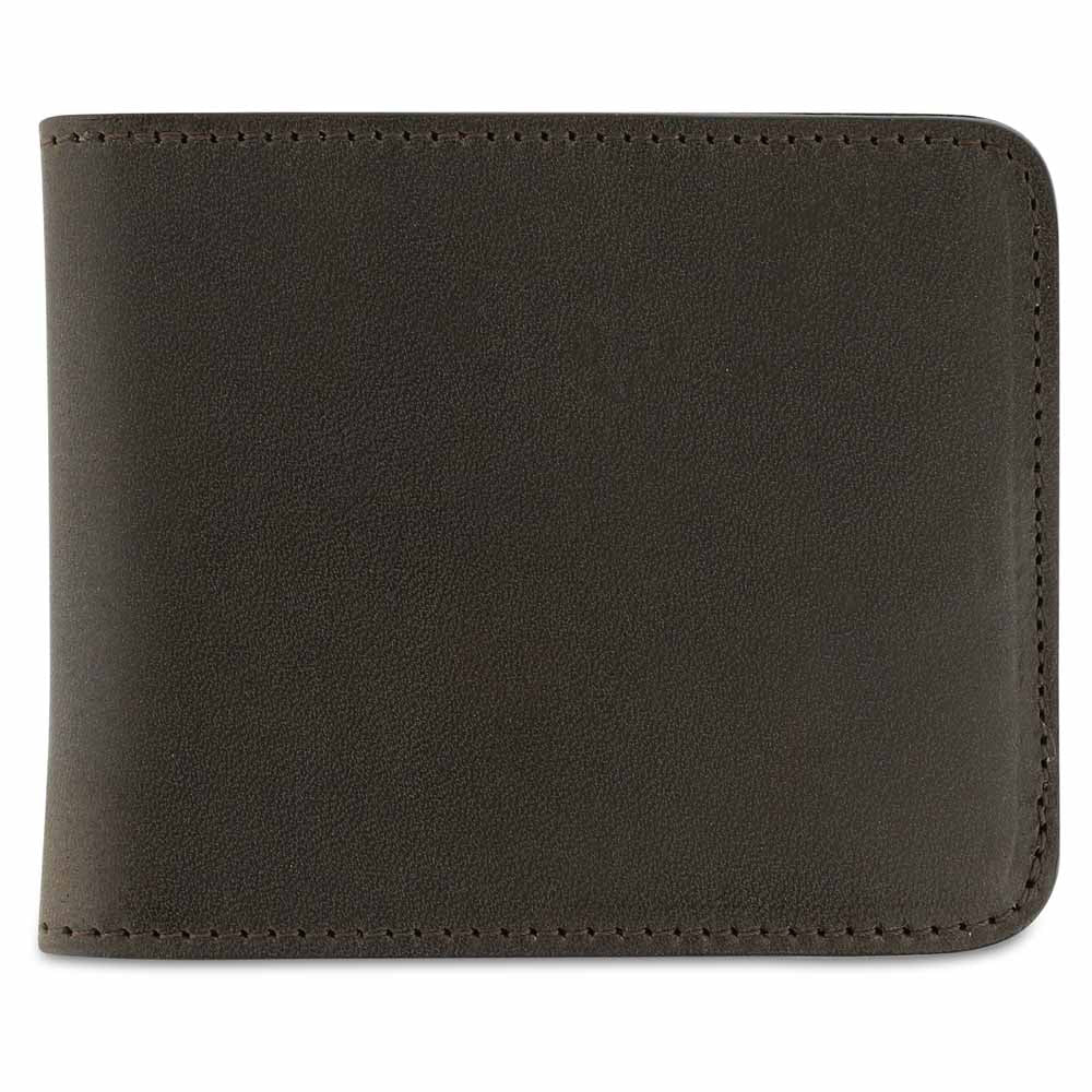 Leather Billfold Wallet - Khaki / Natural - Escuyer