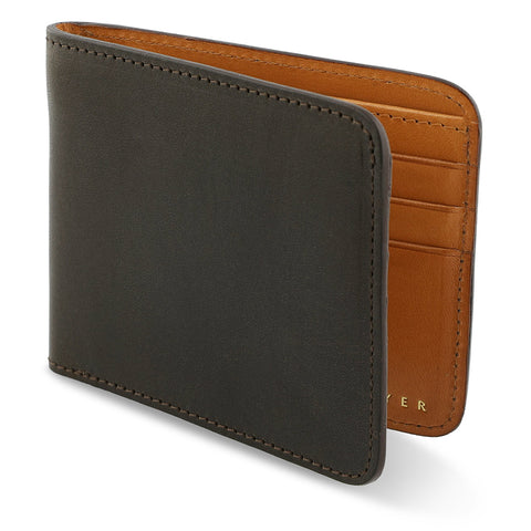 Leather Billfold Wallet - Khaki / Natural