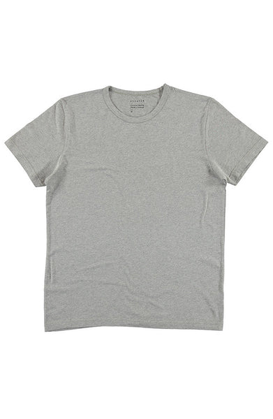 Crew Neck T-Shirt - Grey Melange - Escuyer