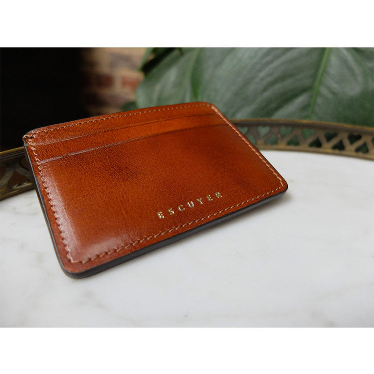 Leather Cardholder - Cognac