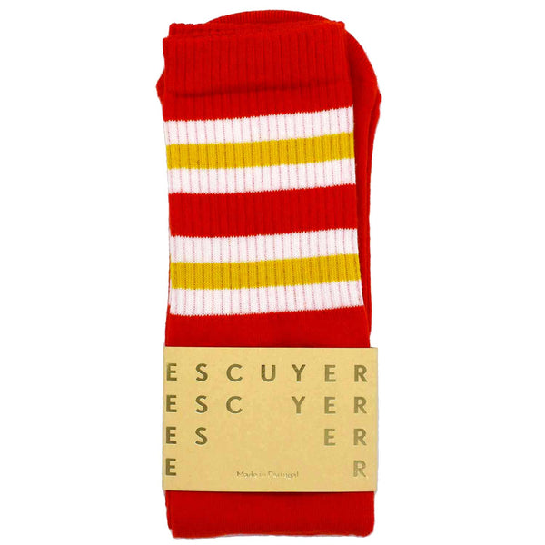Unisex Tube Socks - Aurora Red - Escuyer