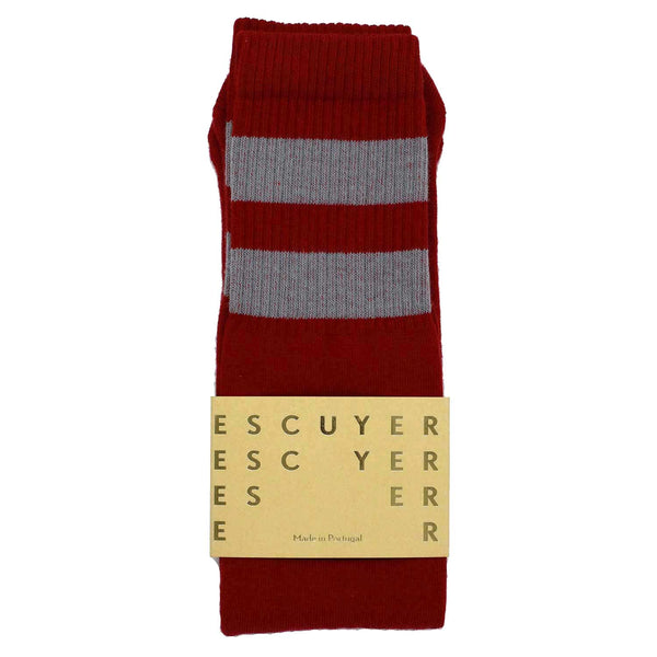 Unisex Tube Socks - Red / Wrought Iron - Escuyer