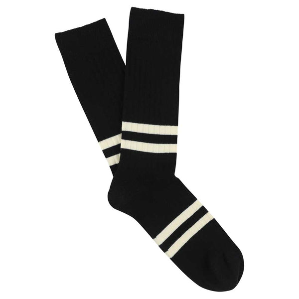 Stripes socks - Black / Ecru