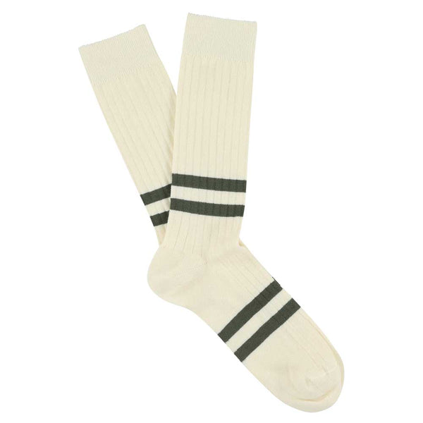 Stripes socks - Ecru / Khaki