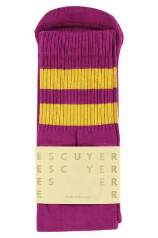 Unisex Tube Socks - Purple / Golden Glow