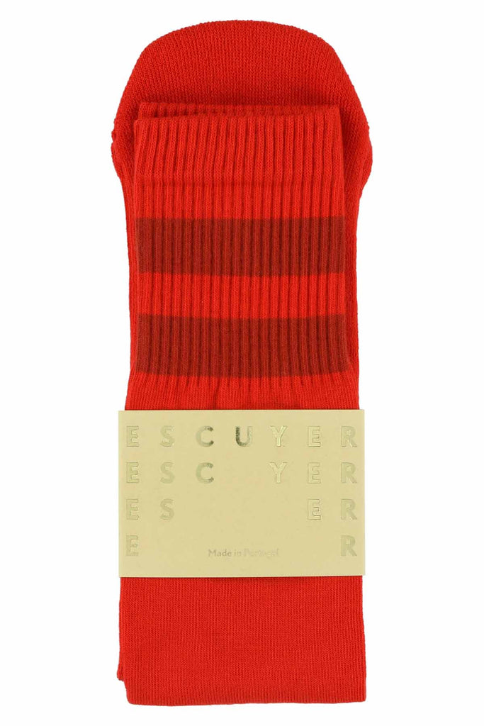 Unisex Tube Socks - Molten Lava / Gold Flame - Escuyer