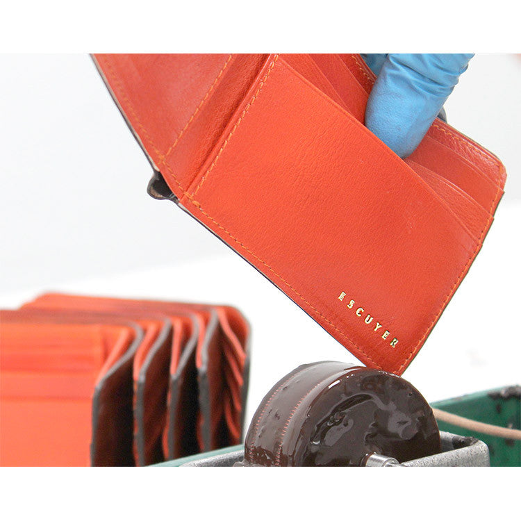 Leather Billfold Wallet - Cognac / Orange