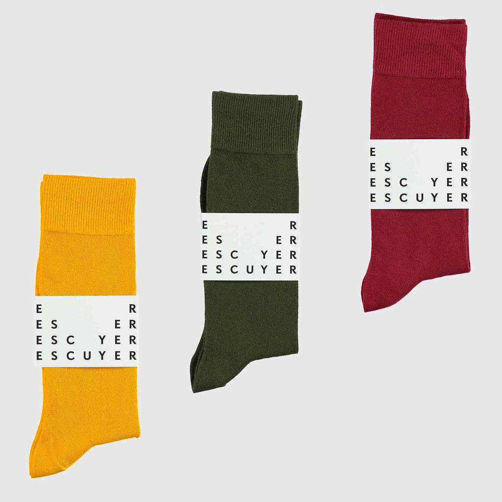 Surprise Casual Color Socks Subscription Pack - Escuyer