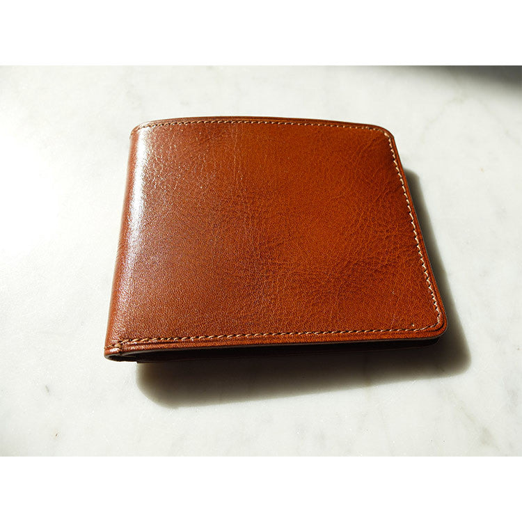 Leather Billfold Wallet - Cognac - Escuyer