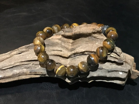 Raging Bull Stone Bracelet - Tiger's Eye