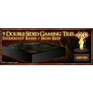 Dark Souls: The Board Game - 9 Double Sided Gaming Tiles (Darkroot Basin/Iron Keep) - Quiche Games