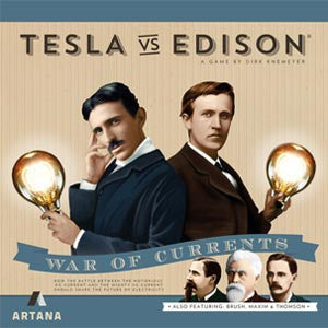 Tesla Vs. Edison: War of Currents Board Game - Quiche Games