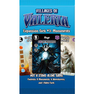 Villages of Valeria: Expansion Pack #2 - Monuments - Quiche Games