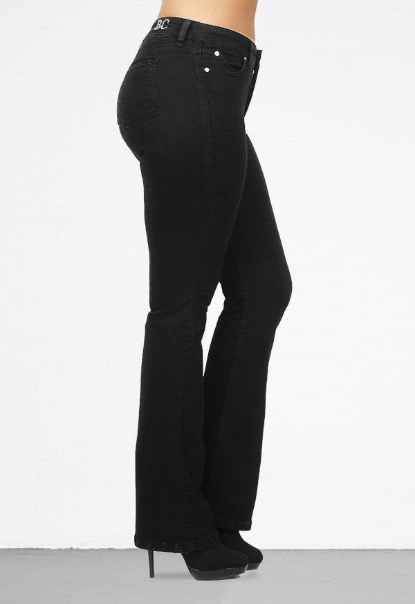 BOOT CUT BLACK - Beauty in Curves | Secret Sculpt System Jeans
