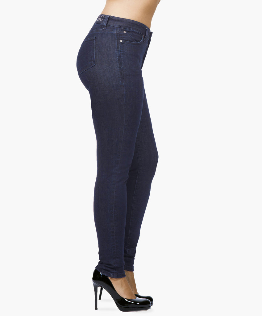 Blue skinny jeans with secret sculpt system.