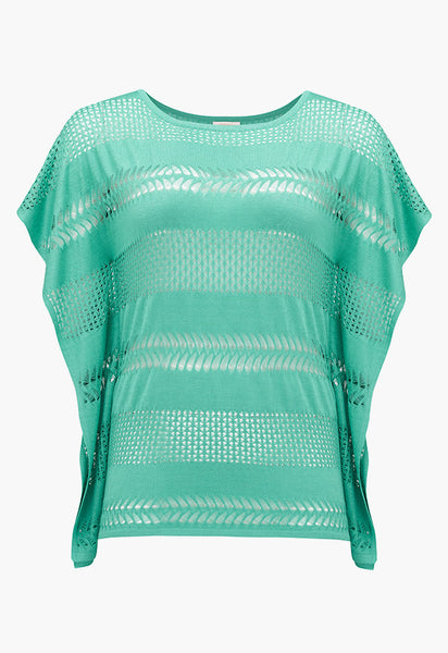 RUTH EROTOKRITOU MINT GREEN PONCHO T-SHIRT