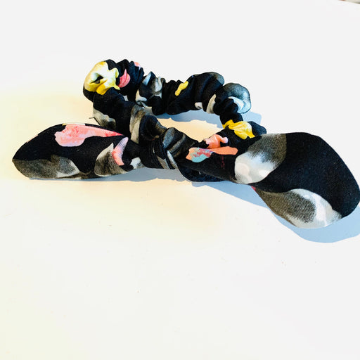 Black Patterned Scrunchies