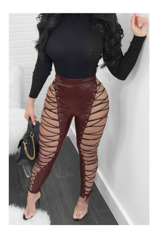 Lace up Stretchy Leggings