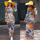 Two Piece Maxi Skirt Set