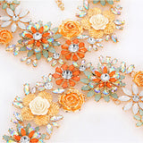Multi Flower Body Chain