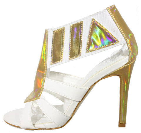 Glitzy Girl Heels White