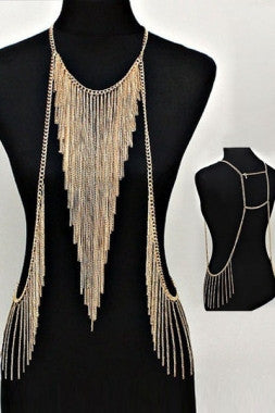Chic Triangle Tassel Body Chain