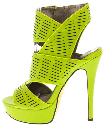 Geometric Lime Heel