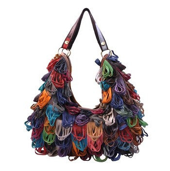 Genuine Leather Bag with Fringes