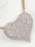 Big Heart Rhinestone Necklace