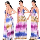 Pink and Blue Tie Dyed Maxi